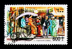 Lucius Copeland (1884), Vintage Cars serie, circa 1998. MOSCOW, RUSSIA - NOVEMBER 25, 2017: A stamp printed in Afghanistan shows Lucius Copeland (1884), Vintage Stock Photos