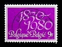 Independence, 150th Anniversary, serie, circa 1980. MOSCOW, RUSSIA - NOVEMBER 23, 2017: A stamp printed in Belgium devoted to Independence, 150th Anniversary Royalty Free Stock Photography