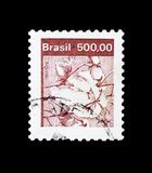 Natural Economy Resources - Cotton, serie, circa 1982. MOSCOW, RUSSIA - NOVEMBER 23, 2017: A stamp printed in Brazil shows Natural Economy Resources - Cotton royalty free stock photography