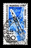 World Meteorology Day, serie, circa 1967. MOSCOW, RUSSIA - NOVEMBER 23, 2017: A stamp printed in Brazil shows World Meteorology Day, serie, circa 1967 Royalty Free Stock Photo