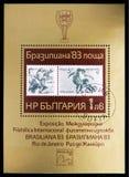 BRASILIANA '83, Rio de Janeiro serie, circa 1983. MOSCOW, RUSSIA - NOVEMBER 10, 2018: A stamp printed in Bulgaria devoted to BRASILIANA '83, Rio de stock photography