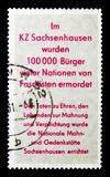 Fascism victims, National Memorials serie, circa 1961. MOSCOW, RUSSIA - NOVEMBER 23, 2017: A stamp printed in Germany DDR shows Fascism victims, National Royalty Free Stock Image