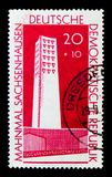 Monument Fascism victims, National Memorials serie, circa 1961. MOSCOW, RUSSIA - NOVEMBER 23, 2017: A stamp printed in Germany DDR shows Monument Fascism victims Stock Photography