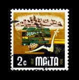 Agriculture, Aspects of Malta serie, circa 1973. MOSCOW, RUSSIA - NOVEMBER 23, 2017: A stamp printed in Malta shows Agriculture, Aspects of Malta serie, circa Royalty Free Stock Photo