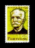 Antonio Xavier Pereira Coutinho (1851-1939) botanist, Portuguese. MOSCOW, RUSSIA - NOVEMBER 24, 2017: A stamp printed in Portugal shows Antonio Xavier Pereira Royalty Free Stock Photos
