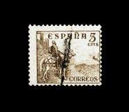 El Cid, Digit and Cid serie, circa 1949. MOSCOW, RUSSIA - NOVEMBER 24, 2017: A stamp printed in Spain shows El Cid, Digit and Cid serie, circa 1949 royalty free stock photo