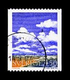 Meteorology - Cumulus, serie, circa 1960. MOSCOW, RUSSIA - NOVEMBER 23, 2017: A stamp printed in Sweden shows Meteorology - Cumulus, serie, circa 1960 Royalty Free Stock Images