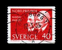 Nobel Prize winners 1904, serie, circa 1964 Royalty Free Stock Image