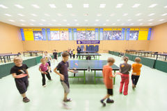 Children's classes ping pong Stock Image