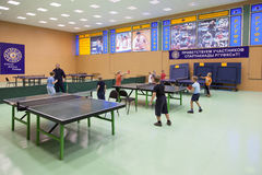 Childrens competition ping pong Royalty Free Stock Images