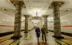 Ancient metro station in Moscow, Russia