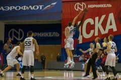 Basketball game CSKA vs Parma stock photo
