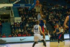CSKA vs Parma Perm Basketball game royalty free stock photo