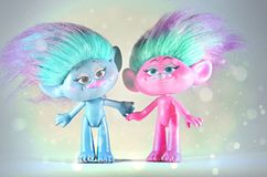 Moscow,Russia-October 2 2018: colorful trolls hasbro stock photo