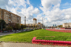 Moscow, Russia-October 01.2016. Gagarin Square over road tunnel Royalty Free Stock Photo