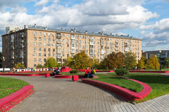 Moscow, Russia-October 01.2016. Gagarin Square over road tunnel Stock Photography