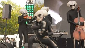 MOSCOW, RUSSIA - OCTOBER 20, 2018: Geek Pecnic - Art, Science, Tech Open Air in Moscow. Performance of Music Band