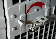 Lock in the car to transport detainees. Royalty Free Stock Photography