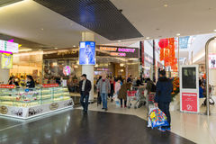 Moscow, Russia - October 01.2016. People in shopping and entertainment center Gagarin Stock Photography