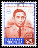 Postage stamp printed in Indonesia shows Attempted Communist Coup - Yani, serie, circa 1966