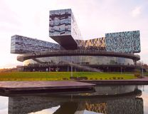Moscow, Russia - October, 2018: The Moscow School of Management SKOLKOVO. It was founded in 2006 by members of business community stock photo