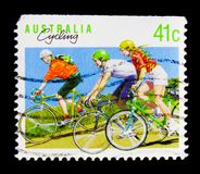 Cycling, Sports serie, circa 1990 Royalty Free Stock Image