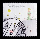 MOSCOW, RUSSIA - OCTOBER 21, 2017: A stamp printed in German Fed. Eral Republic shows Little Prince, 70th Death Anniv of Antoine de Saint-Exupery serie, circa Royalty Free Stock Photos