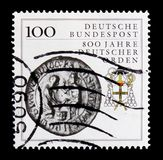 800 years German Order, serie, circa 1990. MOSCOW, RUSSIA - OCTOBER 21, 2017: A stamp printed in German Federal republic shows 800 years German Order, serie Stock Photo