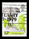 The Albert Memorial, London Landmarks serie, circa 1980. MOSCOW, RUSSIA - OCTOBER 3, 2017: A stamp printed in Great Britain shows The Albert Memorial, London Royalty Free Stock Photos