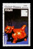 Nayarit figure, International Philatelic Exhibition - 89 Brasiliana serie, circa 1989. MOSCOW, RUSSIA - OCTOBER 1, 2017: A stamp printed in Guinea-Bisau shows Stock Images
