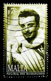 Portrait of Oreste Kirkop opera singer, Maltese Personalities 2002 serie, circa 2002. MOSCOW, RUSSIA - OCTOBER 3, 2017: A stamp printed in Malta shows portrait Stock Photos