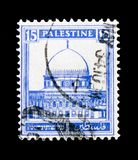 Dome of the Rock, Jerusalem, Definitive Issue `Pictorials` 1927 - 1945 serie, circa 1932 Royalty Free Stock Photos