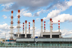 Moscow, Russia-October 01.2016. Thermal Power International and district heating station Krasnaya Presnya Stock Photography