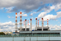 Moscow, Russia-October 01.2016. Thermal Power International and district heating station Krasnaya Presnya Royalty Free Stock Photography