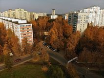 Moscow, Russia - October 20. 2018. Top view of city center Zelenograd. Moscow, Russia - October 20. 2018. Top view of a city center Zelenograd stock photos
