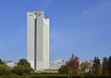 MOSCOW, RUSSIA 05.28.2015 .office building in park of victory in Zelenograd Stock Photos