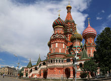 Moscow, Russia, Red Square, Cathedral of Intercession of Most Holy Theotokos on the Moat Stock Images