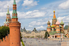 Moscow, Russia, Red square at summer day Royalty Free Stock Photos