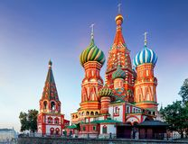 Free Moscow, Russia - Red Square View Of St. Basil`s Cathedral Royalty Free Stock Photo - 125496295