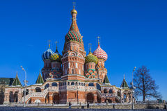 Moscow,Russia,Red square,view of St. Basil's Cathedral Royalty Free Stock Photos