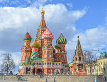 Moscow,Russia,Red square. View of St. Basil's Cathedral from the back view stock photography