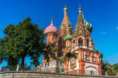 Moscow,Russia,Red square,view of St. Basil's Cathedral in summer Royalty Free Stock Photo