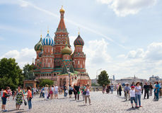 MOSCOW, RUSSIA: Saint Basil's Cathedral Stock Image