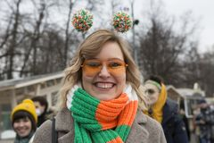 Moscow, Russia,  Saint Patrick`s Day Saint Patrick`s Day In 2019. Royalty Free Stock Photos