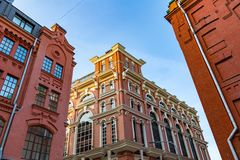 Brick architecture of the Golutvin Manufactory in Moscow, Russia Royalty Free Stock Images