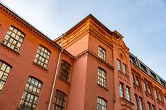 Brick architecture of the Golutvin Manufactory in Moscow, Russia Royalty Free Stock Photography
