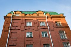 Brick architecture of the Golutvin Manufactory in Moscow, Russia Stock Photo