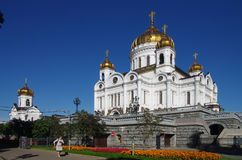 MOSCOW, RUSSIA - September 21, 2015: Cathedral of Christ the Sav Stock Photography