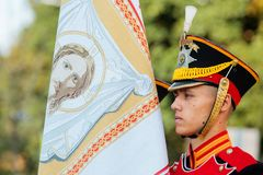 MOSCOW, RUSSIA - SEPTEMBER 02, 2017: Day of the Russian Guard. Stock Photos