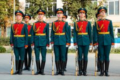 MOSCOW, RUSSIA - SEPTEMBER 02, 2017: Day of the Russian Guard. Stock Image